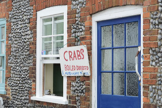 Fresh crabs for sale in Holt, Norfolk